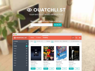 ouatchli.st - coming soon movies movie ui tvshow flat coming soon product