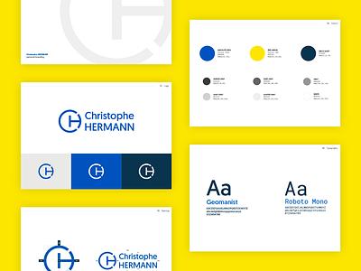 A personal (re)branding. personal guideline brand book styleguide logo branding