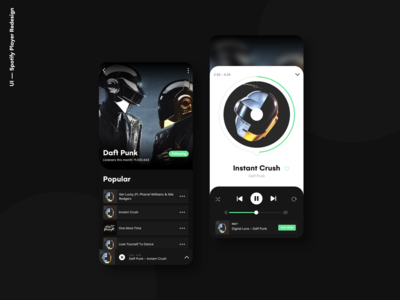Spotify Music Player Concept