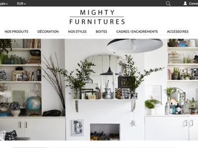 Thème Prestashop   Mighty Furniture webdesign shop cms e-commerce prestashop