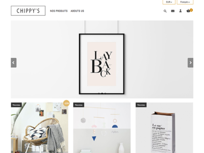 Thème Prestashop   Chippy's webdesign shop cms e-commerce prestashop