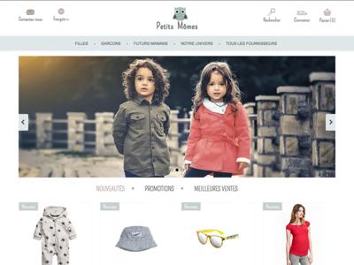 Thème Prestashop   Petits Momes webdesign shop cms e-commerce prestashop