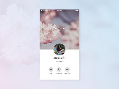Daily UI 006 Challenge - User Profile user experience user interface ux ui design mobile design design dailyui