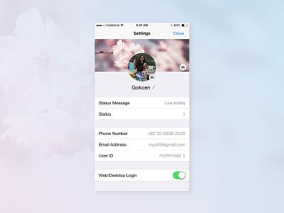Daily UI 007 Challenge - Settings ux user interface user experience ui design mobile design design dailyui