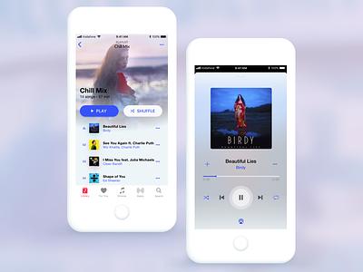 Daily UI 009 - Music Player app design redesign ios music player mobile design dailyui user interface ux ui