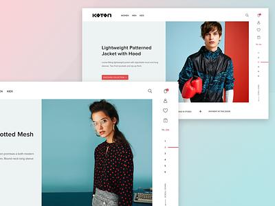 Fashion Ecommerce Design Exploration usability user experience design visual hierarchy minimal user interface ux ui landing page fashion webdesign ecommerce