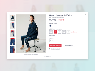Daily UI 012 Challenge - Single Product visual hierarchy user experience design user interface design ux ui webdesign fashion ecommerce design dailyui