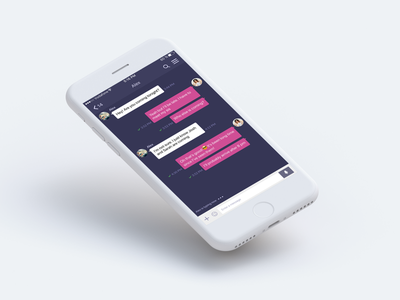 Daily UI 013 Challenge - Direct Messaging visual hierarchy minimal app design messaging app user experience design user interface design mobile app ui ux dailyui