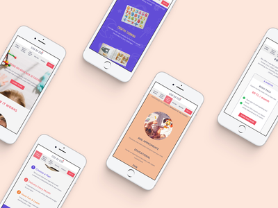Responsive Design for Age-appropriate Educational Box Brand landing page minimal information architecture visual hierarchy mobile design user experience design user interface design ux ui responsive design webdesign