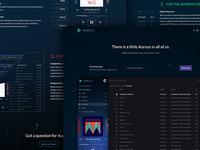 Aurous Teaser Landing Page