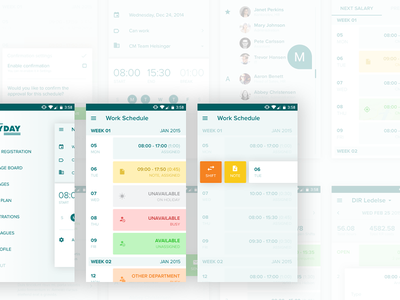 Payday - Mobile App (Android & iOS) schedule task calendar work material google application android ios design app mobile