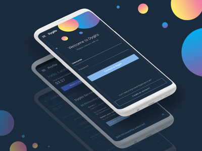 Dygits App ui login gradients dark android iphone ios mobile app