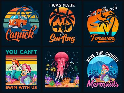 Summer T-Shirt Design Bundle merch by amazon merch design beach t shirt design surfing t shirt merchandise mermaids t shirt t shirt design vector t shirt design ideas t shirt designer t shirt design t shirt t shirt art