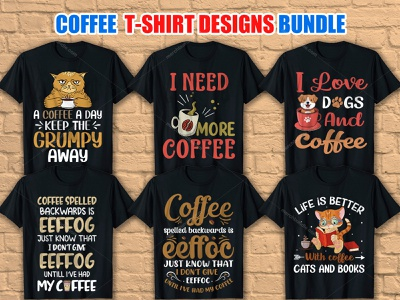 Coffee  T Shirt Designs Bundle - 2 coffee shop coffee vector coffee shirt t-shirt design ideas graphic design fitness shirt merch by amazon shirts t shirt design ideas t shirt t shirt design vector graphic t shirt designer t shirt art illustration merch by amazon t shirt design vector