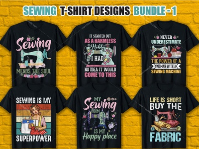Sewing T Shirt Design Bundle vector graphic t-shirt vector graphic vector design brand design brainding logo shirtdesign sewing t shirt design sewing shirt app logo design sewing t shirt logo design app logo merch by amazon t shirt design vector t shirt design ideas t shirt designer t shirt t shirt art t shirt design