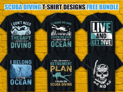 Scuba Diving T-Shirt Design Bundle Free Download template typography t shirts graphic design vector graphic t shirt design vector merch by amazon freebie free t shirt t shirt vector t shirt design ideas t shirt t shirt designer t shirt design t shirt art ocean t-shirt design ocean vector ocean t-shirt ocean shirt ocean
