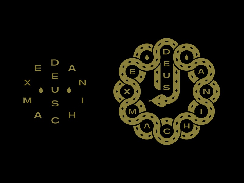 Deus Ex Machina Graphic shirt icon branding typography lockup patch badge logo snake