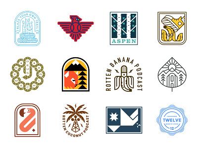 LogoLounge 12 Book branding icon bird flamingo snake coconut banana fire cardinal tree patch logolounge badge logo