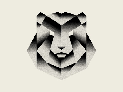 Shady Bear nature geometry shapes illustration grain texture gradient branding icon logo animal bear