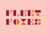 Fleet Foxes Typography