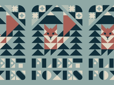 Fleet Foxes triangles shapes illustration typography mountains trees fox music nature gig poster poster fleet foxes