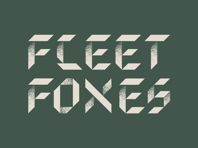 Fleet Foxes Typography 2 letters shapes texture logo music band fleet foxes type typography