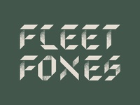 Fleet Foxes Typography 2