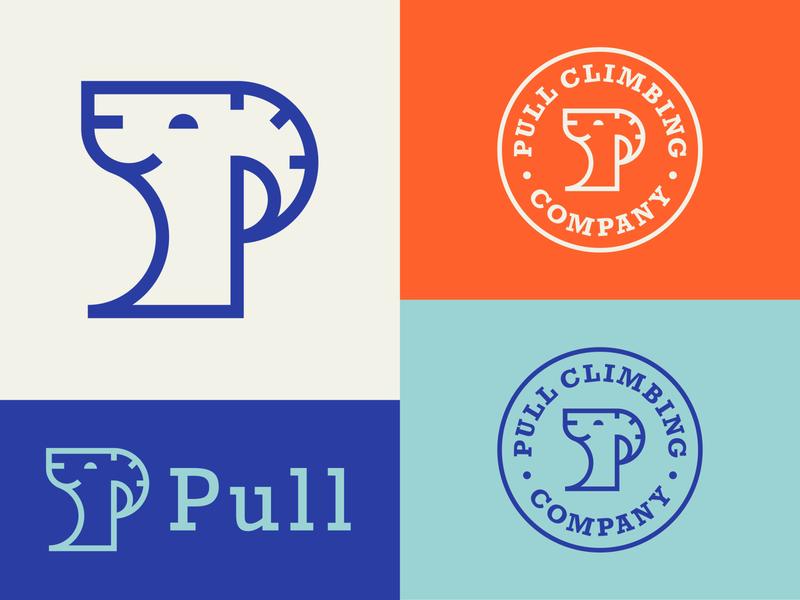 Climbing Brand patch branding p geometry animal typography color badge icon logo mountain goat goat climbing