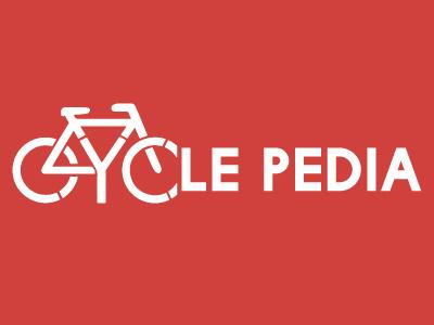 Cyclepedia bicycle white red cebu logo bike pedia cycle