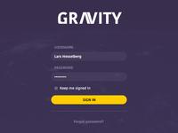 Gravity - Sign-in