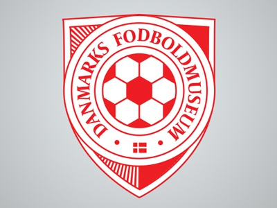 Danmarks Fodboldmuseum museum denmark football soccer logo
