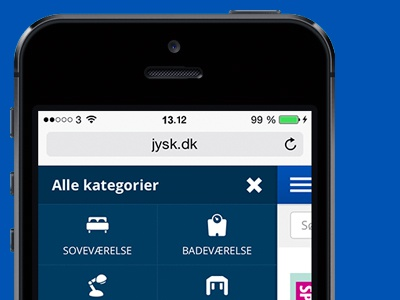 Jysk responsive web webshop shop retail chain jysk mobile