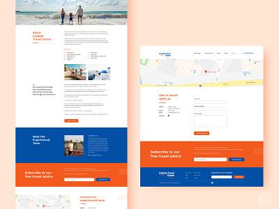 Travel Centre pages travel visual design web design ux ui