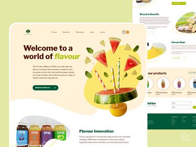 TPM Website Home Page nutrition visual design interaction web design ux ui