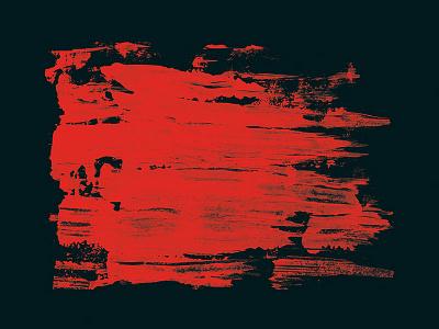 Red on Black painting brush visual graphic design branding corporate identity stroke print