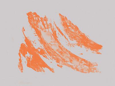 Orange on Gray painting brush visual graphic design stroke corporate identity print