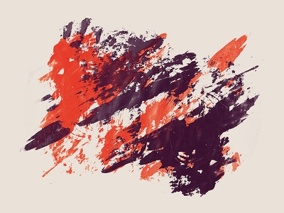 Red and Violet on Beige painting brush visual graphic design stroke corporate identity print