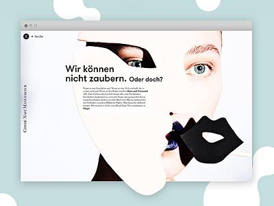 Condé Nast Manufaktur icons webdesign navigation flat typography menu graphic design ui website