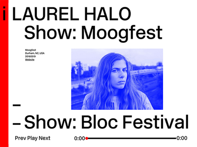 Laurel Halo Website dj ui typography portfolio fullscreen website