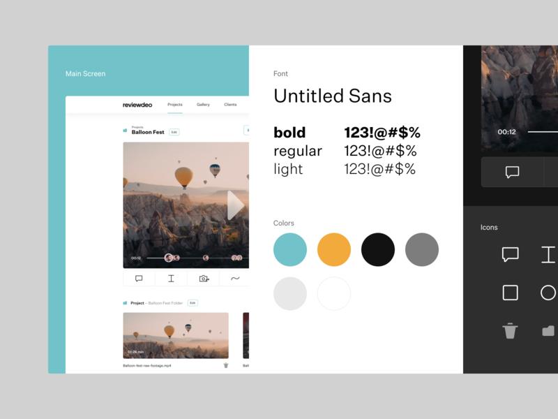 Reviewdeo – Stylescape designreference moodboard stylescape concept design ui