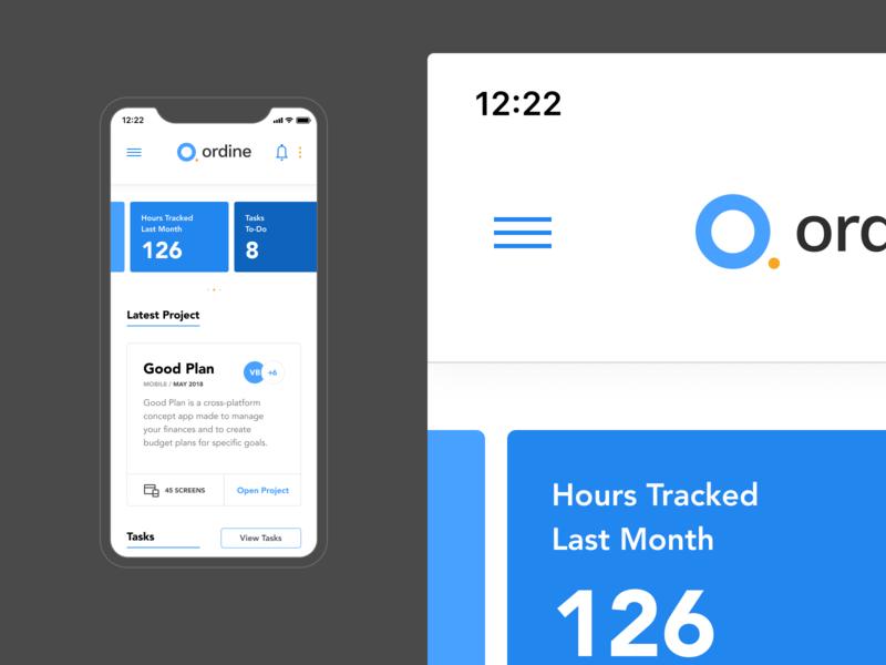 Ordine – Mobile dailyui app concept design ui dashboardmobile ordine