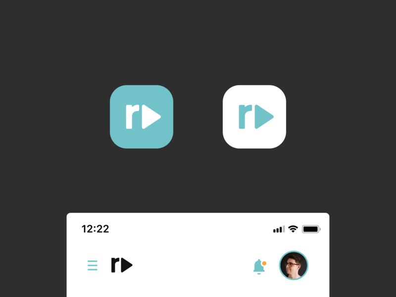 Reviewdeo – Icon branding colors dailyui design concept videoapp ui iosicon app