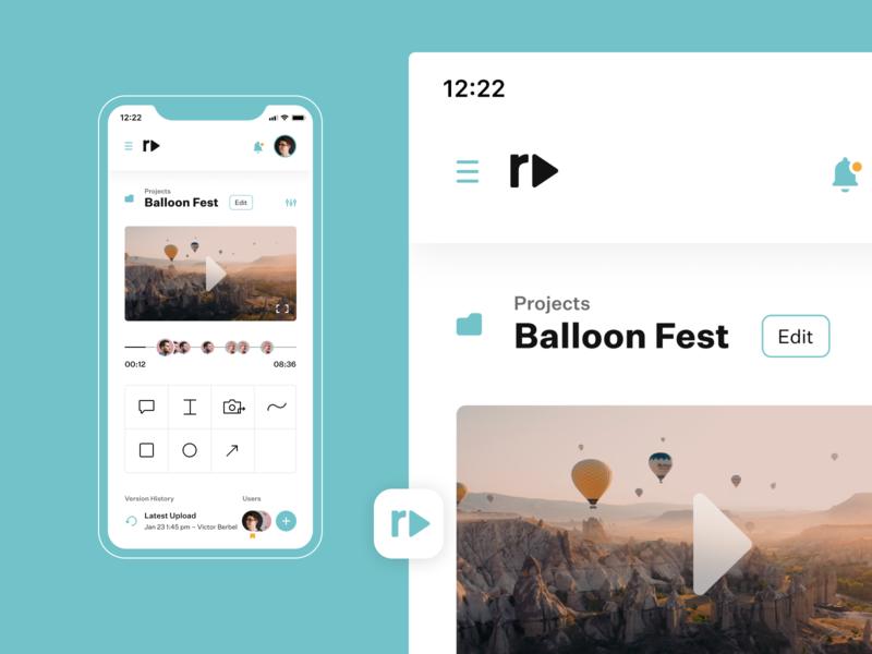 Reviewdeo – Mobile mobileversion videoapp dailyui app concept design ui
