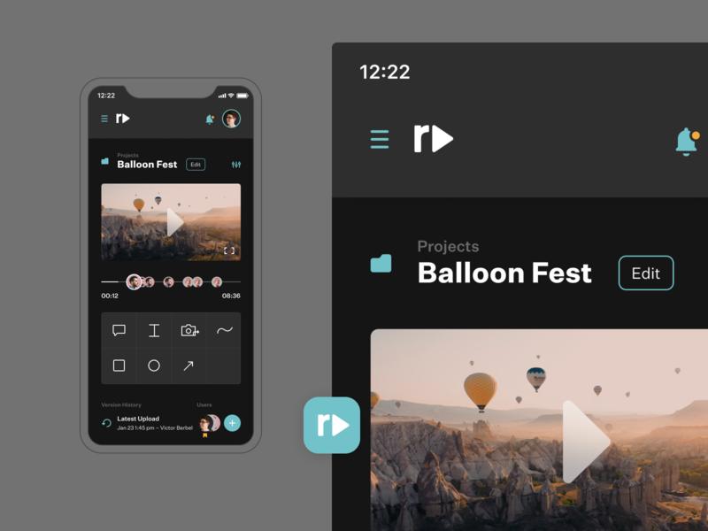 Reviewdeo – Mobile iosapp videoapp dailyui app concept design ui