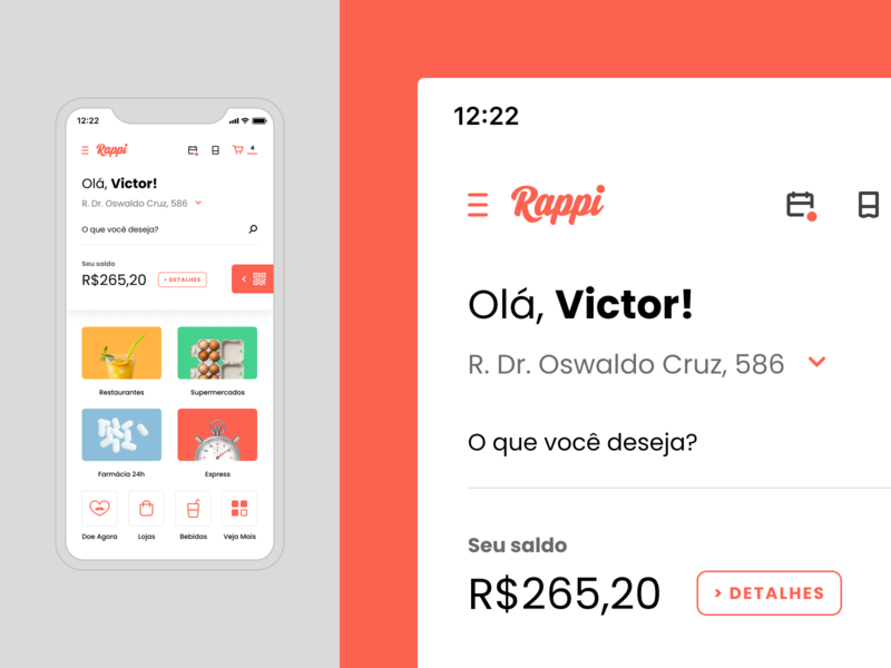 Rappi – Mobile mobile ecommerce delivery app colors flat delivery deliveryapp rappi ux dailyui app concept design