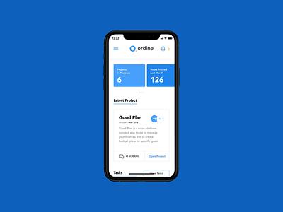 Ordine – Calendar gesture aftereffects motion mobiledashboard app concept design ui