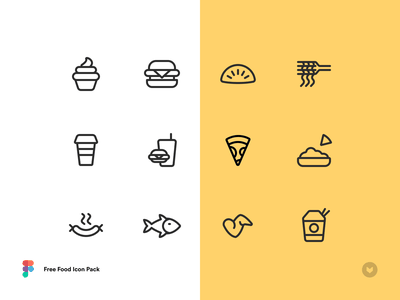 Free Food Icon Pack free lineicons foodicons freeicons icon app design ui