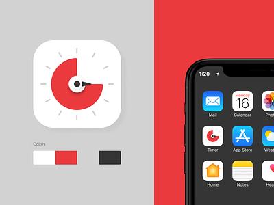 Pomodoro Timer Icon app concept design ui pomodoroicon pomodorotimer iconography iconapp timerapp icon