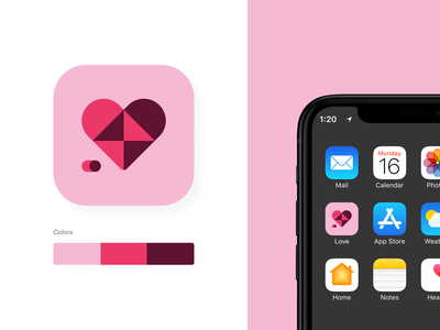 Love Icon hearts flaticon icons iconheart heart loveicon app concept design ui