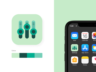 Settings Icon settingsicon iconapp app concept design ui